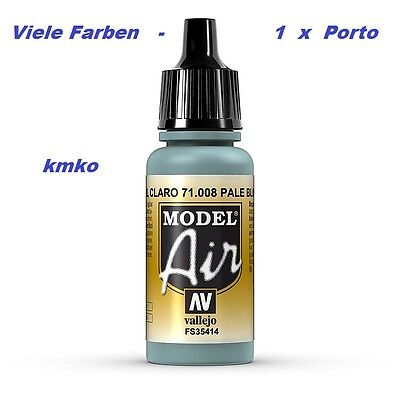 Vallejo Model Air MA 008 71008 Pale blue RLM 65 FS35414 17ml 15,29 €/100ml