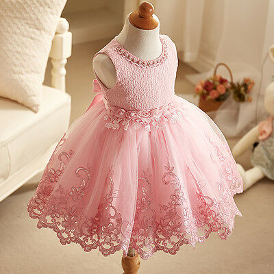 Flower Girl Dress Kid Formal Performance Dress Baby Party Ball Gown 2-12T](Flower Girl Flower Ball)