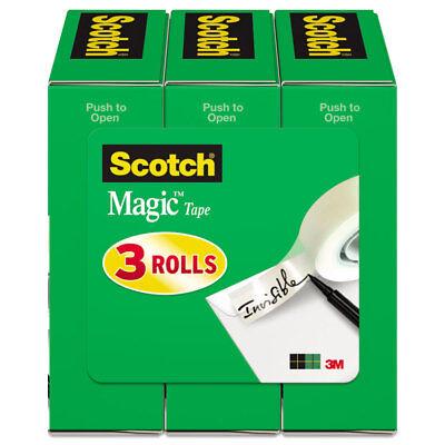 Scotch Magic Tape Refill 34 X 1000 1 Core Clear 3pack 810k3