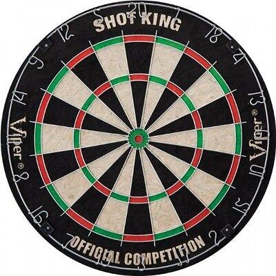 Viper Shot King Sisal Fiber Bristle Dartboard, Official Sized, New