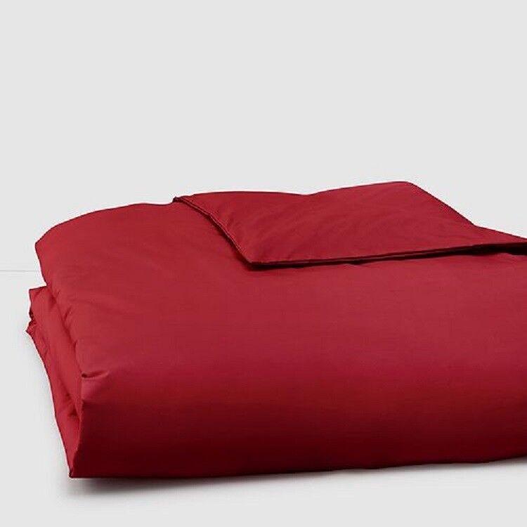 NWT Anne De Solene Vexin Bourgogne Christmas Holiday Red KING Duvet Cover $300