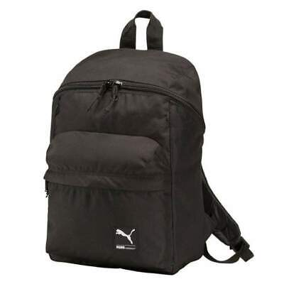 PUMA FOUNDATION BACKPACK RUCKSACK BLACK RRP £28 25 LITRES NEW WITH TAGS