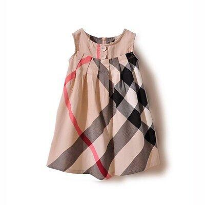 Modernes kariertes  Mädchenkleid Karokleid  A-Form  neu Gr. 74, 80, 86, 92, 98