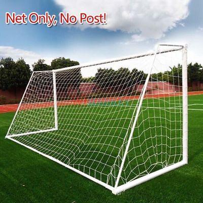 PE Football Soccer Goal Post Net Sports Training Practice Outdoor 6x4 12x6 24x8