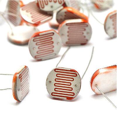 10 Pcs Photo Light Sensitive Resistor Photoresistor Optoresistor 12mm Gl12528