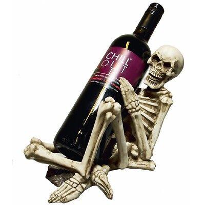 Weinflaschenhalter Skelett Skull Gothic Halloween Dekoration Weinkeller NN143