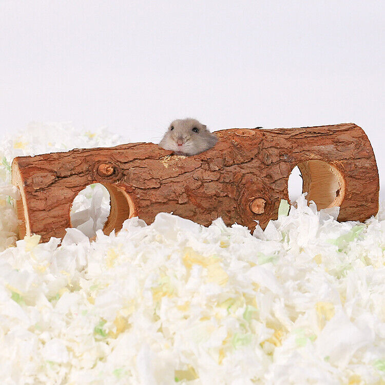 Hamster Tunnel Small Pets Squirrel Guinea Pig Chinchilla Natural Wood Chew Toys