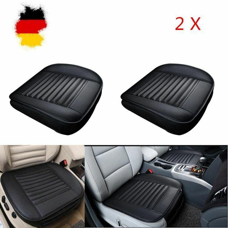 2X Universal Vorne Auto Sitzkissen Sitzauflage Sitzbezüge Sitzmatte PU Leder DE