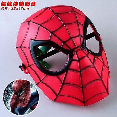 MASCHERA SPIDERMAN UOMO RAGNO SPIDER MAN COSPLAY PVC MASK DC MARVEL COSTUME #1