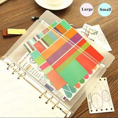 2 Pcs Lot Zipper Binder Pocket Card Holder For A5 3 X 6 Binder Planner
