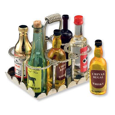 Reutter Porzellan Flaschenhalter Nostalgie Antique Liquor Caddy Puppenstube 1:12