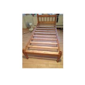2 single bed frames.pine effect.