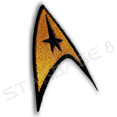 ENTERPRISE STARFLEET COMMAND ABZEICHEN / BADGE - STAR TREK AUFNÄHER PATCH GOLD