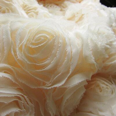 3D Chiffon Rosette Hochzeit Kostüm Spitze Abend Tanzend Kleid Handwerk Stoff - Chiffon Spitze Kostüm