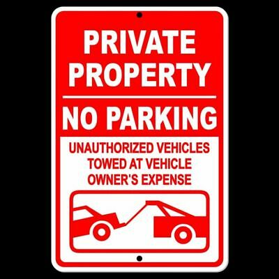 - Private Property No Parking Violators Towed At Owners Expense Sign METAL SPP006