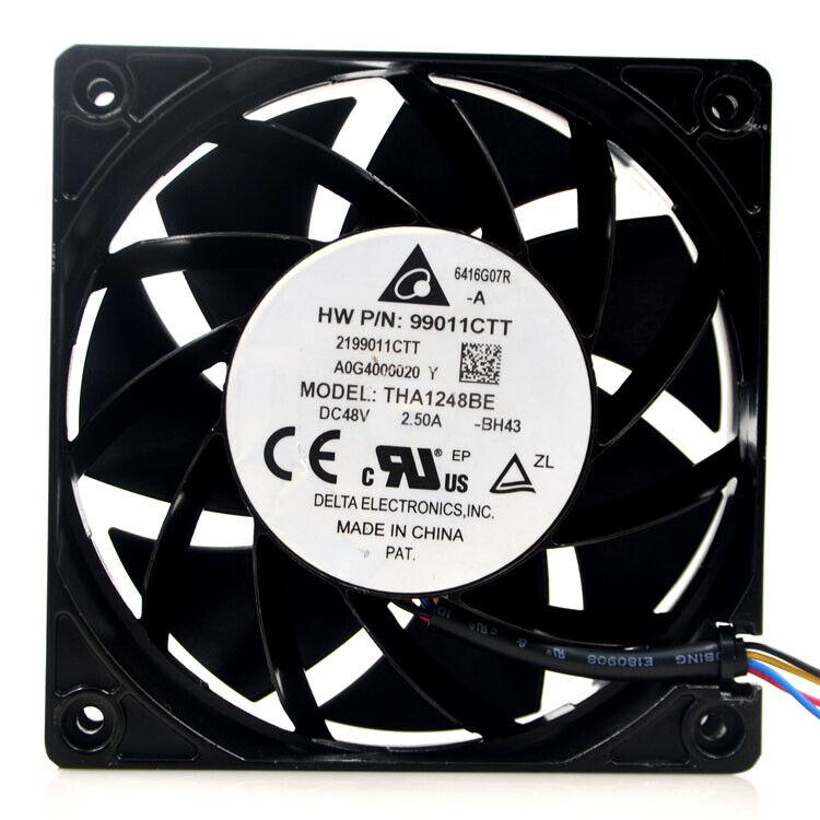 Delta THA1248BE-A 48V 2.5A 12038 12CM network equipment aluminum frame fan