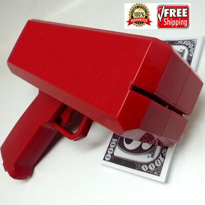 Brand SS17 Red Box Logo Cash Cannon Money Gun and +100 PCS Custom dollar bill