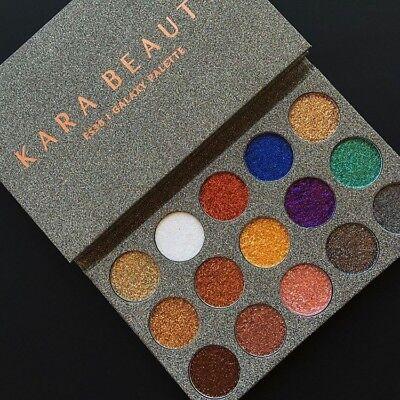 Kara ES38 15 Color Galaxy Glitter Palette - Galaxy Make Up