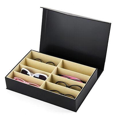 Brillenkoffer 8 Brillen Brillenaufbewahrung Brillenpräsentation Brillenbox
