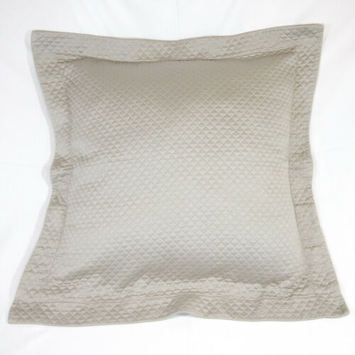 Sferra Euro Pillow Shams (2) Gray Diamond Matelasse EUC