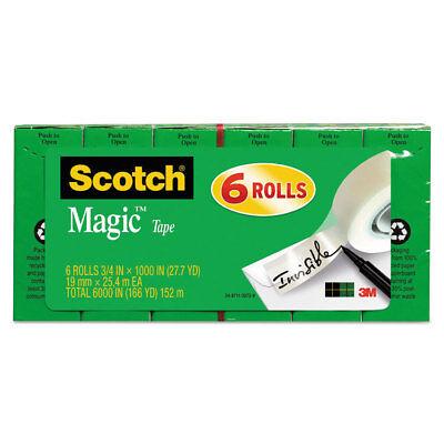 Scotch Magic Tape Refill 34 X 1000 1 Core Clear 6pack 810k6