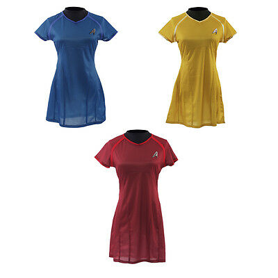 Star Trek Into Darkness Uhura Blue Yellow Red Dress Uniform Cosplay Costume - Star Trek Blue Dress