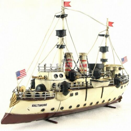 Handmade The Battleship US Baltimore Metal Model Kit Decoration Crafts Boat Gift