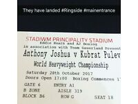 RINGSIDE Anthony Joshua BOXING TICKETS