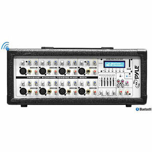 Pyle Pro PMX802M - 800 Watt 8-Channel Powered PA Mixer/Amplifier