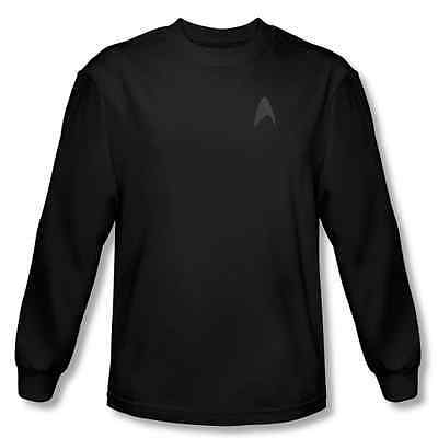 Black long sleeve t-shirt Star Trek Into Darkness Command Logo Uniform costume (Tshirt Costume)