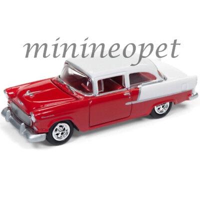Johnny Lightning Jlsp005 B 1955 55 Chevrolet Bel Air 1 64 Diecast Car Red