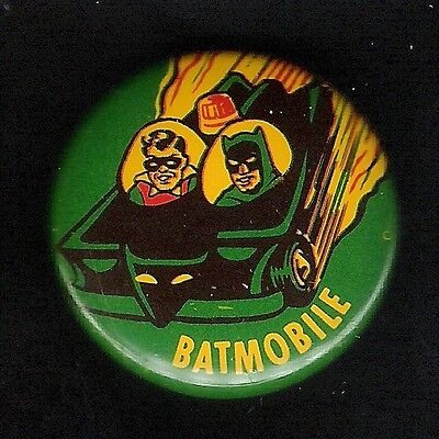 "Vintage Pinback Button Pin Badge 1966 Batman 1"" Collection  Batman ""Batmobile"""