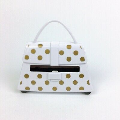 Post-it Note Purse White Gold Dots Post-it Note Dispenser Used