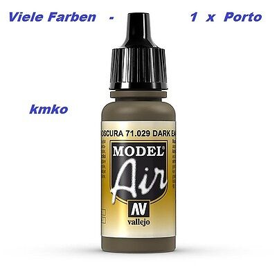 Vallejo Model Air MA 029 71029 Dark Earth 17ml 14,71€/100ml