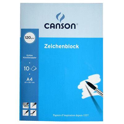 Zeichenblock DIN A4 10 Blatt blanko 120 g/qm