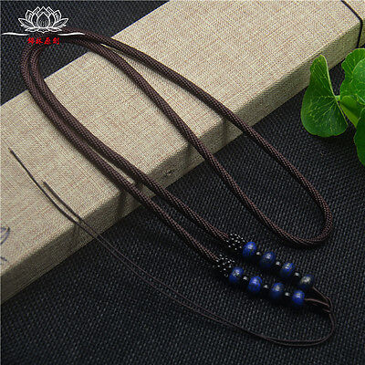 Natural Lapis lazuli Blue JADE beads Circle string cord rope for pendant A231 Blue Circle Pendant