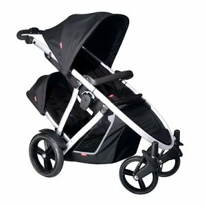 Phil & Teds 2012 Verve Stroller & Double Seat in Kit Black Brand New!!