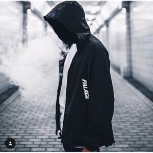 Palace Windbreaker or Wind Cheater - Black and Teal Small