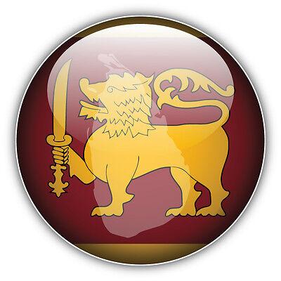 Sri Lanka Glossy Flag Map Label Car Bumper Sticker Decal 5 X 5