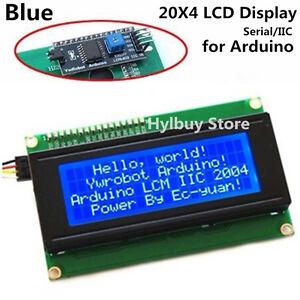 Blue Serial IIC I2C TWI 2004 20x4 Character 5v LCD Module Display Screen Arduino