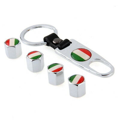 2 Pair Wheel Tire Valve Stem Air Cap Italy Italian Flag Logo Design for VW Lexus