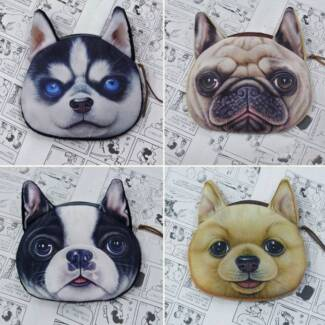 Puppy Coin Purses – Pug, Husky, French Bulldog & Pomeranian Boondall Brisbane North East Preview