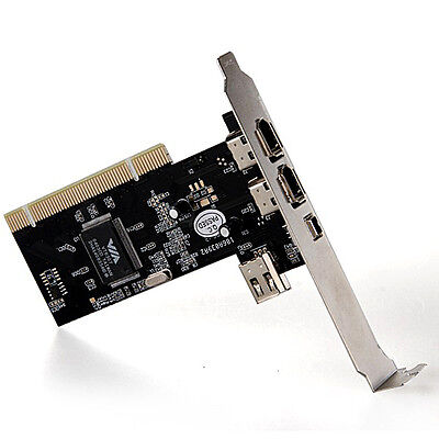 4 Ports Firewire IEEE 1394 PCI Card 4/6 Pin for MP3 PDA