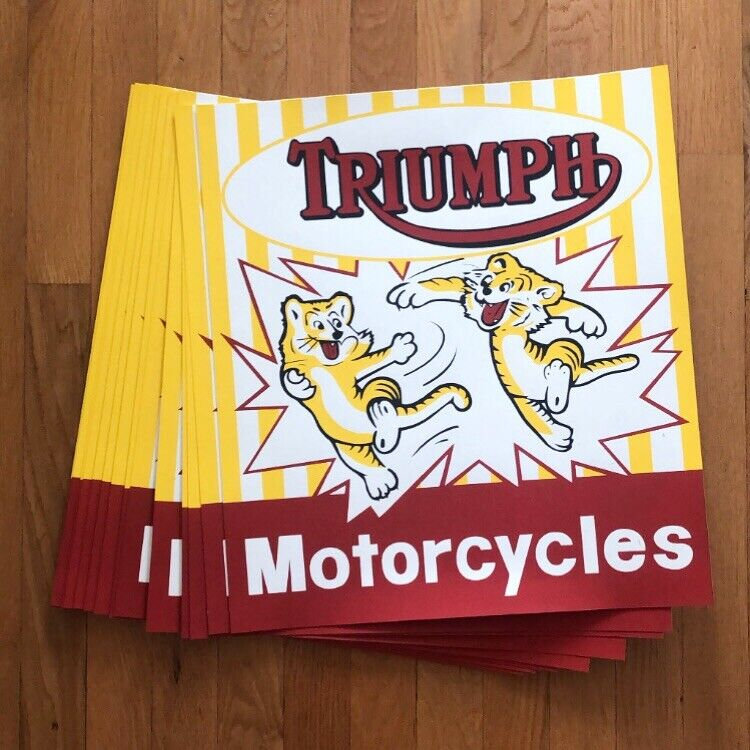 """Triumph Motorcycles """"CUB"""" Screen Printed Poster"""