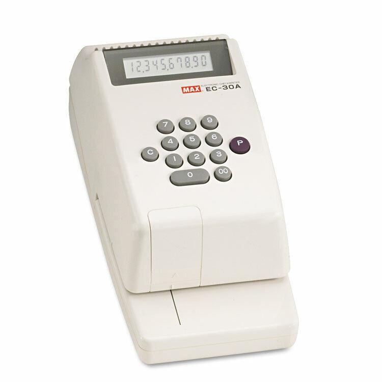 Max Electronic Checkwriter 10-Digit 4-3/8 x 9-1/8 x 3-3/4 EC30A