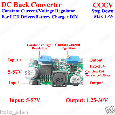 Dc 5v 12v 24v 3a Constant Current Voltage Led Driver Buck Step-down Power Supply