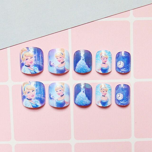 24pcs for Kids Child Disney Cute Adorable False Fake Nails Tips ...