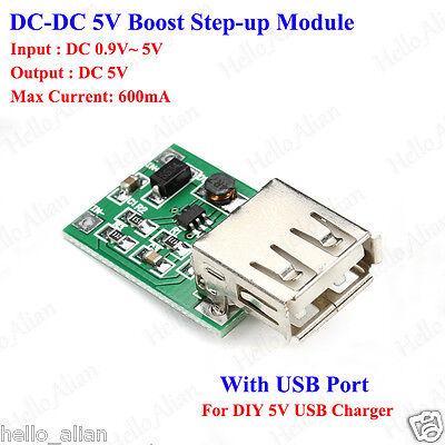 Dc-dc Boost Step-up Power Supply Volt Converter 3v3.3v3.7v To 5v Usb Charger