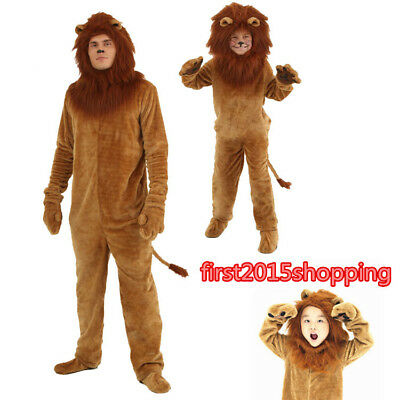 Halloween Birthday party game fancy dress Lion Mascot Costume Adults kids Size  - Adult Party Games Halloween