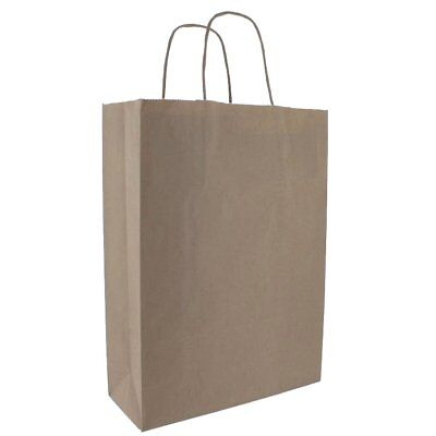 125 x Brown Kraft Paper Twist Handle Carrier Bags